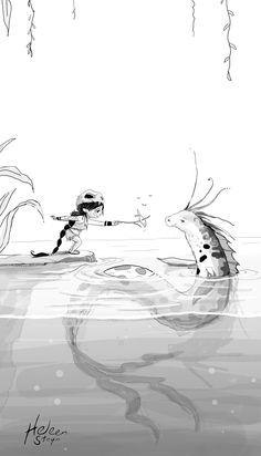 #16 Nessy   #inktober #digitalink