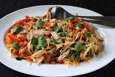 ChocoLanas matblogg: Asiatisk kyllingsalat Japchae, Ethnic Recipes, Food, Essen, Meals, Yemek, Eten
