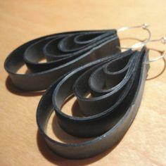 inner tube earrings! Brilliant