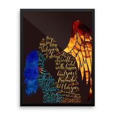 Daughter of Smoke and Bone Series Quote Art Print