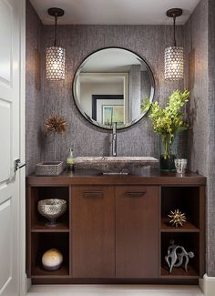 There are some rooms in the house that we design and decorate for our own pleasure and other spaces where 'hosting guests' becomes a consideration. The powder room might be…
