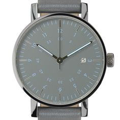 VOID V03D (grey/grey) watch by VOID. Available at Dezeen Watch Store: www.dezeenwatchstore.com