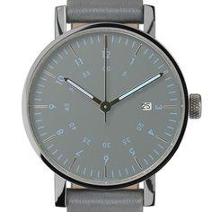 VOID V03D (grey/grey) watch by VOID. Available at Dezeen Watch Store: www.dezeenwatchstore.com