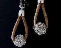 Cork Earrings -  Vegan Eco-Friendly Mother's Day Gift Idea