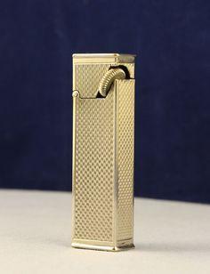 Fabulous 30's Art Deco Patented Longfellow 45 Degree Flint Wheel Pocket Lighter