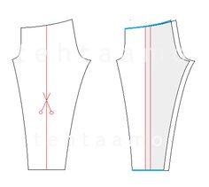 how to make leggings pattern skinnier