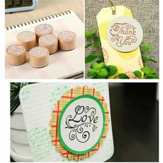 6pcs/lot High quality 3x2.3cm DIY Assorted Retro Vintage Floral Flower Pattern Round Wooden Rubber Stamp Scrapbook