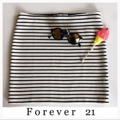 Striped Mini Skirt NWOT NWOT~ Great bundle item! Forever 21 Skirts Mini
