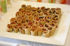 Peanut butter and jelly sushi, just thought this was a cute idea