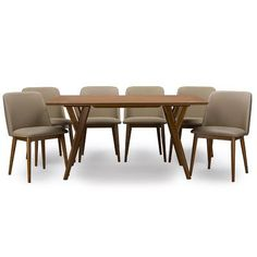 Latitude Run Marble Falls 7 Piece Dining Set