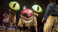 Clara Darcy as the Cheshire Cat - credit Pamela Raith Photography