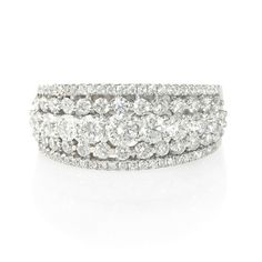 Modern Right Hand Diamond Rings New Ring With 87 Pavé