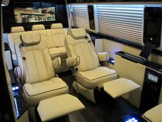 #Mercedes Sprinter Viano luxury recliner seats reclining captain chair office limousine conversion van limo seat