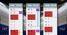 Le calendrier en un coup d'œil des jours de grèves SNCF et Air France, entre vacances et jours fériés