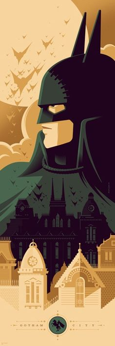 Batman 75th Anniversary. Gotham by Gaslight. Artist: Tom Whalen.
