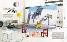 ELLE DECO ITALIA (outdoor)      Rocking chair - Kettal Vieques design Patricia Urquiola.  Outdoor lamp - Kettal Objects