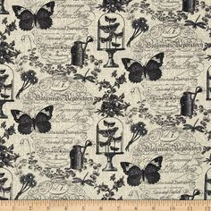 Rue 36 Garden Memories Gray from @fabricdotcom  For Benartex Fabrics, this cotton print fabric is perfect for quilting, apparel and home decor accents. Colors include black, shades of grey and cream.