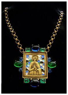 Diane Love for Trifari 'Russian Icon' Pin Necklace in Original Box | eBay