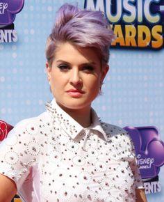 Kelly Osbourne Short Edgy Lavender Hairstyle
