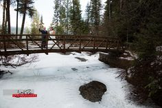Elkins Resort provides an amazing spot for a winter wedding. And this bridge was a great first-look spot. #wedding #idaho #priestlake #idahowedding #elkinsresort #bride #groom #firstlook #winterwonderland #bridgeovericywater
