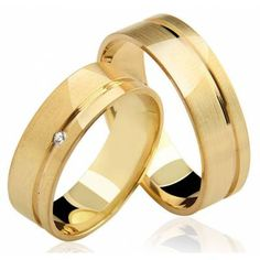 Alianças de Casamento Jolie em Ouro 18K