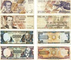 Ex moneda nacional Ecuador, Financial Markets, Vintage World Maps, Personalized Items, Central Bank, Guayaquil, Coins, Banks