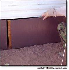 Full time RV living. Skirting trailer with foam insulation ...