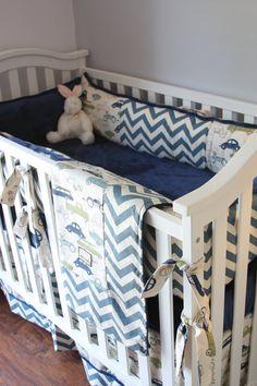 Custom Boy Crib Bedding Baby Boy Cars Crib by RitzyBabyOriginal