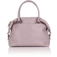 Vivienne Westwood Hogarth 131008 Large Handbag (750 CHF) ❤ liked on Polyvore featuring bags, handbags, shoulder bags, purse shoulder bag, shoulder handbags, purple leather purse, zipper pouch and man bag
