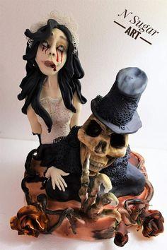 Sugar Skull Collaboration Edition 2017 This is my piece for sugar skull collaboration Halloween Torte, Halloween Kids, Cake Central, Sugar Art, Love Cake, Cake Art, Collaboration, Sugar Skulls, Cake Decorating