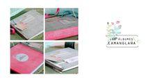 album de fotos con espiral y etiqueta