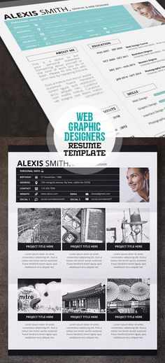 Minimal 4 Page Resume Template #resumetemplates #cvresume #coverletter…