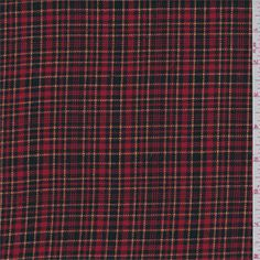 Red Plaid Flannel - 31902 - Fabric By The Yard At Discount Prices