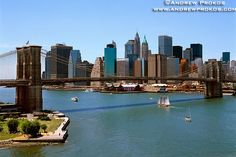 View of the Brooklyn Bridge, Lower Manhattan and East River - http://andrewprokos.com/photos/new-york/