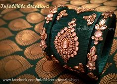 """To order Whatsapp +91 9791090024 For more collections visit """"www.facebook.com/infalliblecreationzsilk"""". Silk Thread jewelry, silk thread bangles, silk thread bridal bangles, wedding bangles, silk thread bangles wholesale, engagement bangles, Grand silk thread bangles, bangles, seemandham bangles, party wear bangles, silk thread jewellery, handmade jewelry, infallible creationz, Bridal Bangles, Customized Bridal Bangles, Designer Bangles, silk Bangles, Kundan Stone Bangles, Kundan Bangles,"""