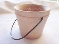 4 Small Wood Buckets with Handles by studio8supplies, $7.99