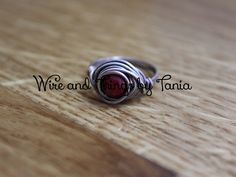 Red Quartzite wire wrapped ring by WireandthingsByTania on Etsy