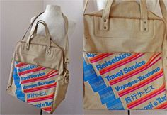Vintage 60s 70s American Express Travel Tote // by FaceTheSunshine, $25.00