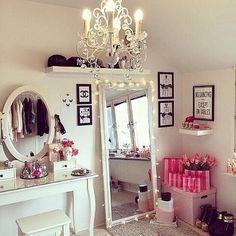 Mirror beside vanity