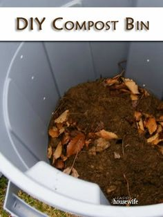DIY Compost Bin Tutorial ~ inexpensive and easy to make!   The Happy Housewife