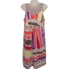 BCBGMaxAzria Sz M Multicolor Sleeveless Dress BCBGMaxAzria Sz M Multicolor Sleeveless Dress. NWOT Bust 34-36 Stretchy Multicolor SleevelessRound Neck BCBGMaxAzria Dresses