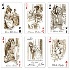 Jane Austen Playing Cards http://www.readerscatalog.com/collections/games-for-grown-ups/products/jane-austen-playing-cards