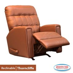 Éste sillón es ideal para descansar después del trabajo  Reclinable Thorncliffe  Moderno   Reclinable tapizado en piel combinado con vinil   También es mecedora.  ¡Llévatelo a 6 meses con tarjeta de crédito!   #Muebles #Calidad