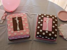 modern pink and brown baby shower