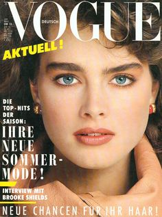 Brooke Shields Vogue Deutsch March 1984