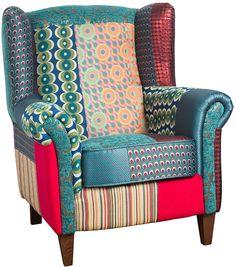 Patchwork Jacquard Armchair