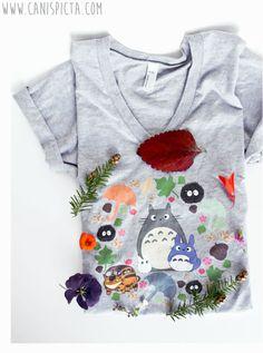 f3d0cef6a Totoro Tee Shirt T-Shirt Kawaii My Neighbor Anime Grey Chibi Troll Hayao  Miyazaki Studio