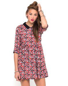 Motel Verity Collared Dress in Mawar Red, TopShop, ASOS, House of Fraser, Nasty gal