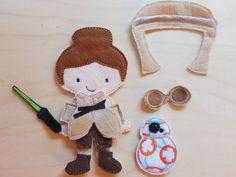 Star Wars Rey felt dress-up doll on Etsy