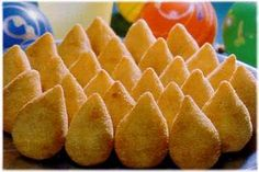 Coxinha is my favorite Brazilian food, especially the shrimp ones and the chicken ones.